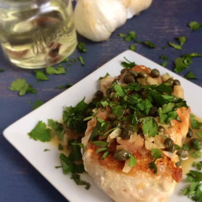 Chicken Piccata With Lemon Caper Quinoa