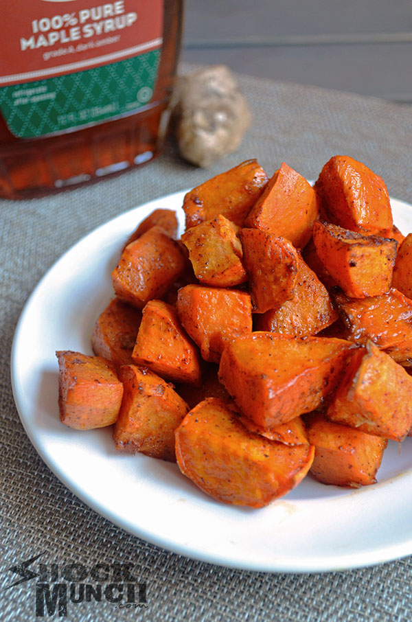 Maple Ginger Roasted Sweet Potatoes