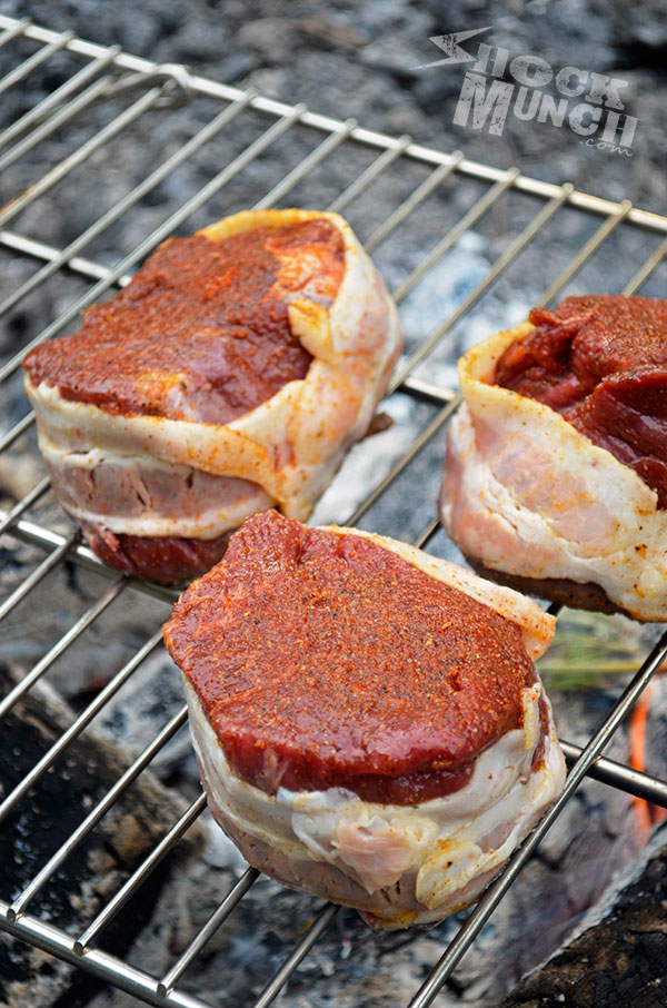 Cajun Crusted Bacon Wrapped Filet Mignon