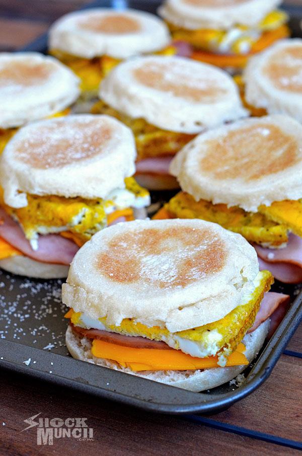 On The Go Egg Sandwiches