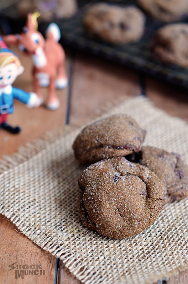 Chewy Chocolate Gingersnap Cookies - Shock Munch