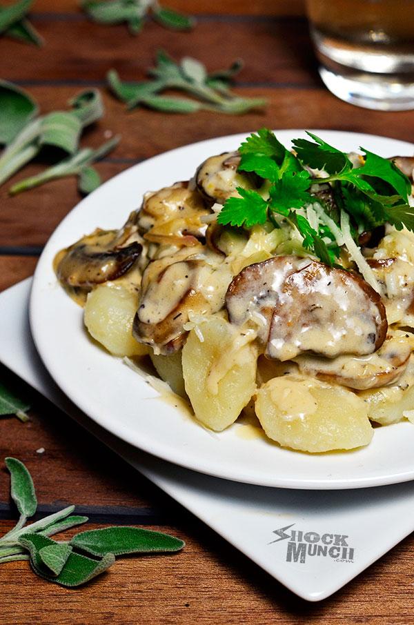 Gnocchi with Mushroom Ragu