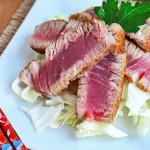 Seared Tuna Steak with Beurre Blanc Sauce