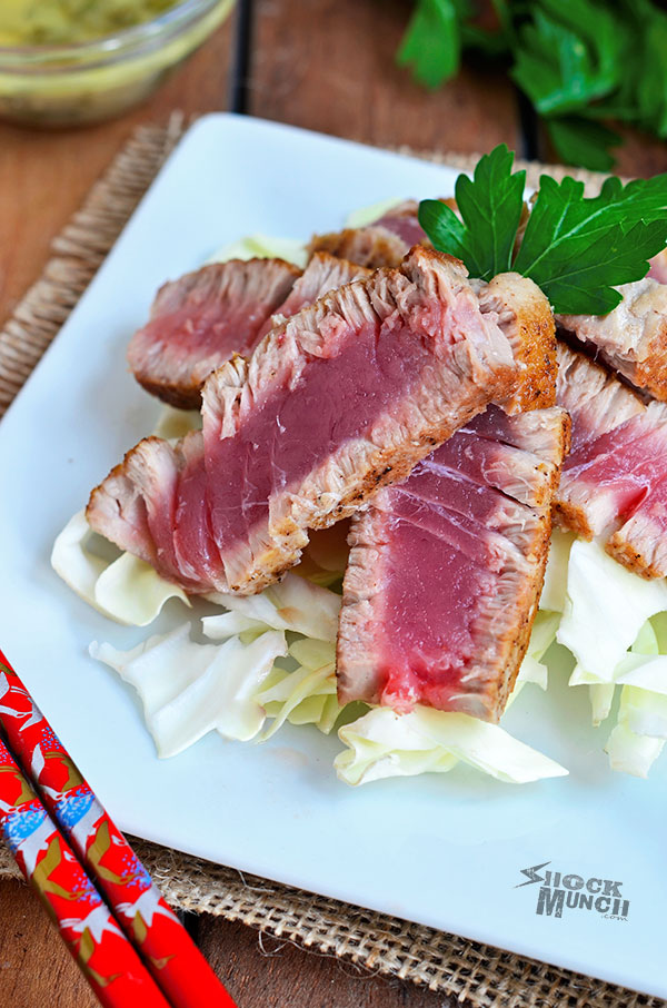Seared Tuna Steak with Beurre Blanc Sauce