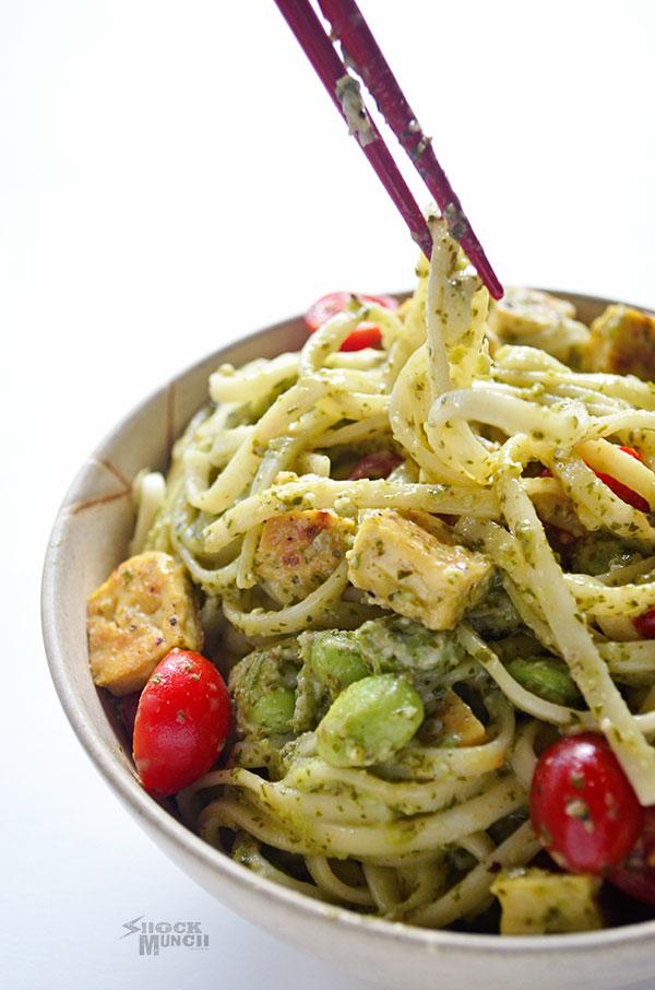 Jalapeño Cilantro Pesto Pasta