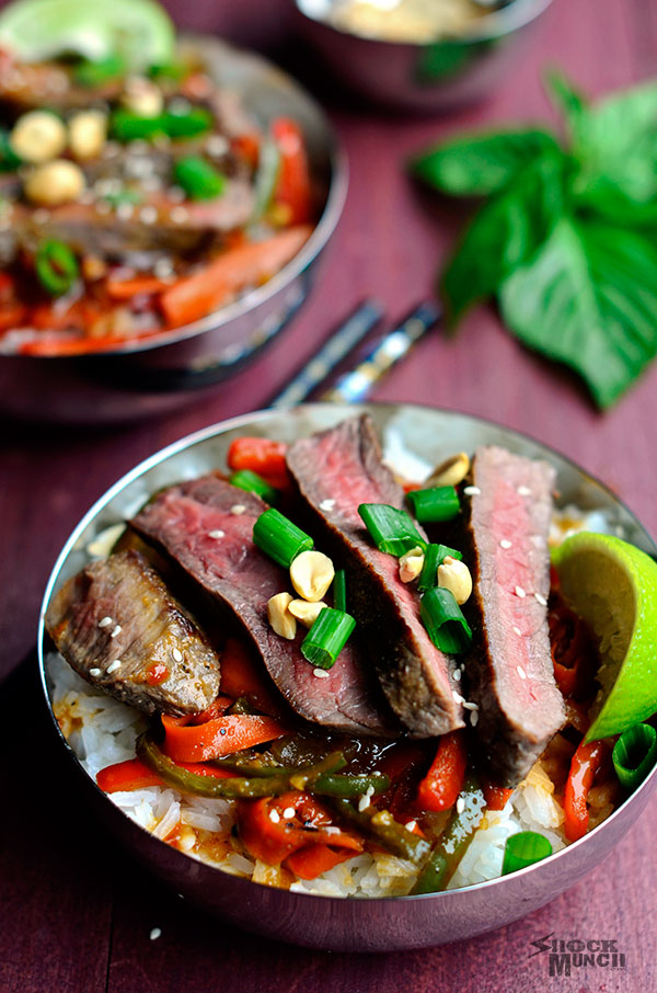 Sweet Thai Chili Steak Bowls