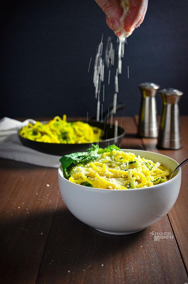 Zucchini Noodles with Saffron Sauce