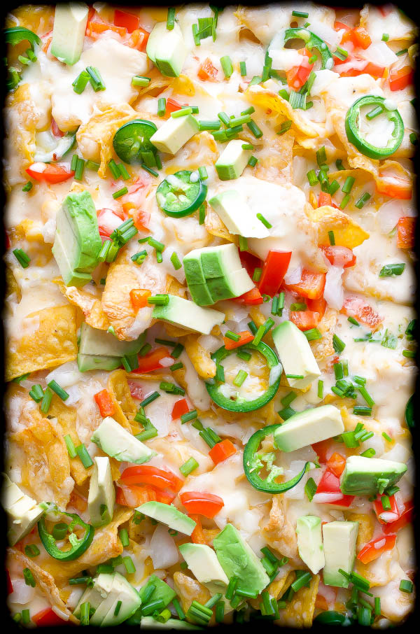 Beer and 3 Cheese Nachos