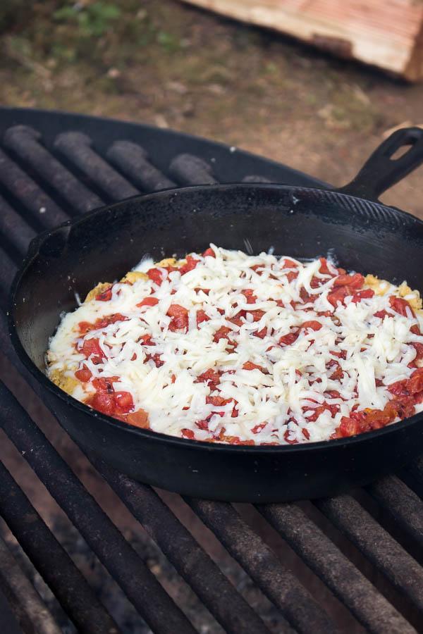 Keto Camping Fathead Pizza Shock Munch
